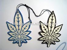 leaf shape hanging paper perfume card for promotion