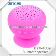 2013 sucker waterproof mixed colorful bluetooth speaker with mushroom shape