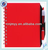New stationery spiral notebook with pen