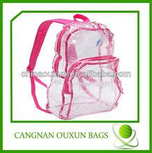 Transparent pvc school bag