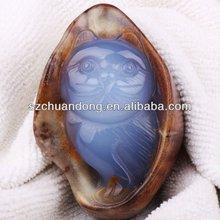 natural gemstone carvings/Cat carvings/art crafts