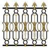 Aluminum golden die casting pattern fence
