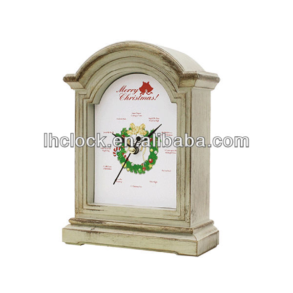 christmas decoration table clock