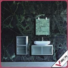 Modern vanity cabinet mirror with shelf bathroom furniture