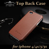 Top Leather for Apple iphone 4s Back Case 5s Cover