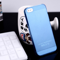Best price ultra slim frosted case pure color transparent flip case for iphone 5