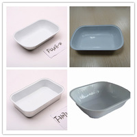 Supply hot sale airline casserole aluminum lacquered container, Airline lunch box