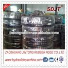 HIGH PRESSURE FOUR STEEL WIRE SPIRALED HYDRAULIC RUBBER HOSE DIN EN856 4SP