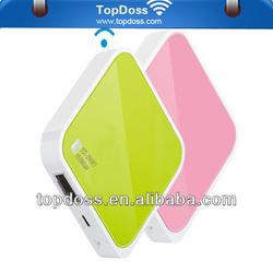 OEM Portable 150M wifi b/g/n MINI 2 LAN ports+1USB power Wireless Router