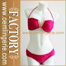 Hot Red Strappy Top Women Super Mini Bikini