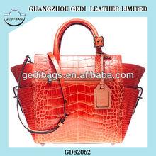 Luxury YSLVGUCI Croco Bag Woman Handbag High Quality China Alligator Shoulder Bag