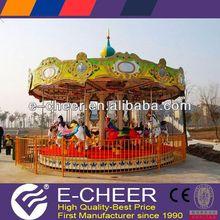 Amusement Park Carousel Ride on Horse