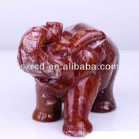 Hot seller indian agate elephant carving gemstone elephant