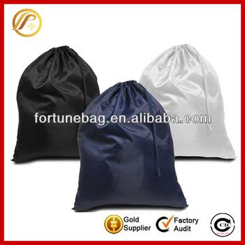 Comfortable practical nylon drawstring laundry bag