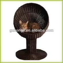 Outdoor plastic rattan cat tree house