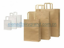 Brown Paper Bag, luxury paper shopping baga with handles