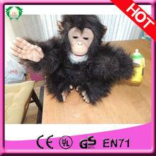HI EN71 lovely fur real monkey plush toy