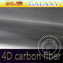 car decoration accessories 4D carbon fiber sticker printing with air free drain