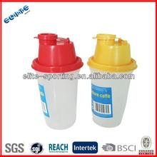 PE custom plastic water bottle shake bottle / disposable protein shaker bottle