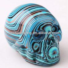 Synthetic semi-precious stones mini small skull sculpture