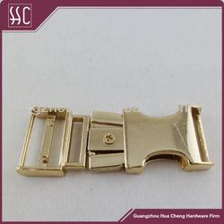 Fashion metal gold side release buckle for belt /bag/garment