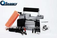 12V Auto Air Compressor Tire Inflator Hose Bag Gauge Kit (DA1102)