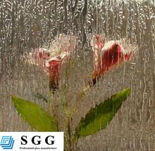 Smart ultra clear figured float glass for shower room