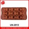 2013 Hot selling heart shape 100% silicone moldes de chocolate jelly candy moldes de chocolate/cake decoration UN-2013