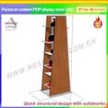 Di legno a strati pavimenti su misura cappello& espositore cap mensola di esposizione per pop/Ruolo