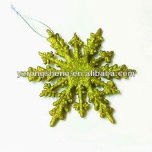 hanging cheap christmas plastic glitter snowflake