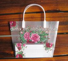transparent PVC zipper hand bag