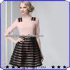 2014 high fashion design summer casual dresses for women,fat women casual dresses plus size,stripe A line dress boutique women