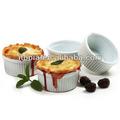 Porcelana/cerâmica taças de sobremesa ramekin atacado