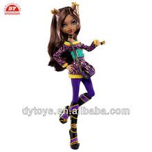 ICTI factory plastic fashion dress up doll