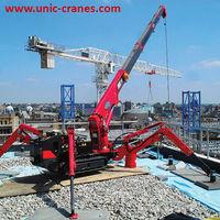 CE Marked 2.9t capacity UNIC URW-295 Mini Spider Crane (2,9t x 1.4m), with Safe Load Indicator