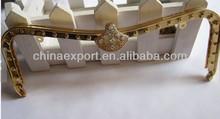 17cm sewing gold copper purse frame