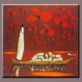 Handpainted soyut zenci kadın tuval üzerine yağlıboya, tekne