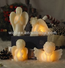Different Angel Shape Flameless LED Candle For Christmas, Operated by CR2032 Battery Include
