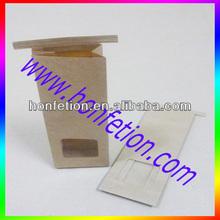 Hot Sale Lining Inside Tin Tie Kraft Paper Bag for Food