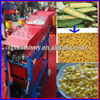 Four rollers corn dehusker machine/corn shelling and threshing machine