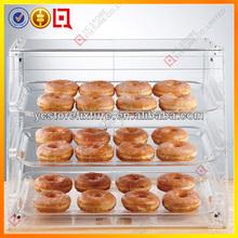 3-shelf clear acrylic bread display cabinet/rack/shelves