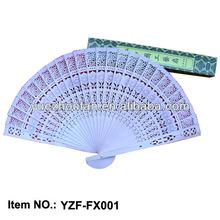 Original color sandalwood wood fan
