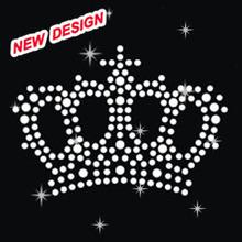 Crown Hot Fix Rhinestones glitter nailhead iron on ideas J 1 48