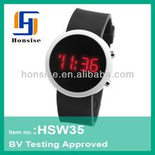 Cheap silicone mirror watch new design wristwatch LED watch