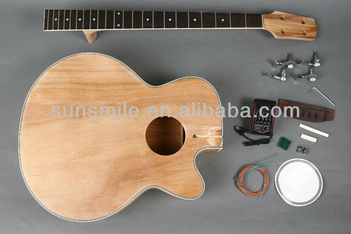unfinished diy electric acoustic bass guitar kit gk sab 10. Black Bedroom Furniture Sets. Home Design Ideas