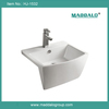 Bathroom Countertop Rectangular Ceramic Apron Front Wash Basin