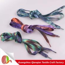 2014 New products fashionable ployester colorful heat transfer led shoelaces