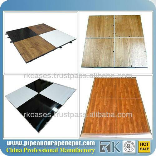 Pas cher gros acrylique piste de danse de plancher stratifi en noir et blanc - Plancher stratifie pas cher ...
