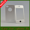 Best Quality Brushed Aluminum Metal Cover Case For iPhone 4 4S Cell Phone Accessories ( 5 Color Choice)