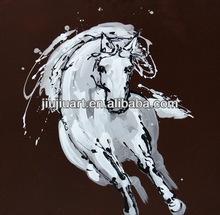 handmade acrylic paint running horse oil painting on canvas